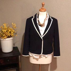 GUC navy blue Ann Taylor jacket blazer